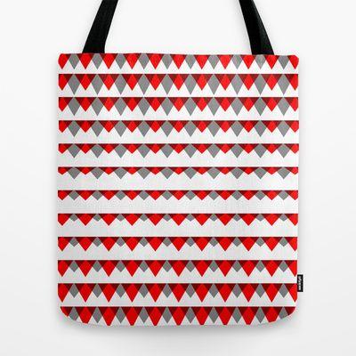 embers geometric pattern Tote Bag by emma method - $22.00