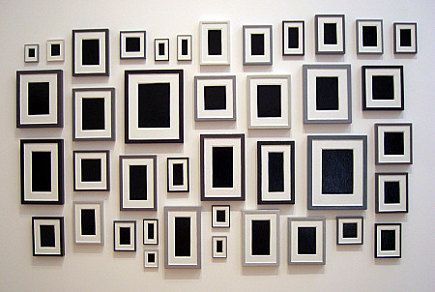 .: Wall Art, Allan Mccollum, Black And White, Photos Wall, Plaster Surrog, Frames Wall, Pictures Frames, Wall Pictures, Pictures Wall