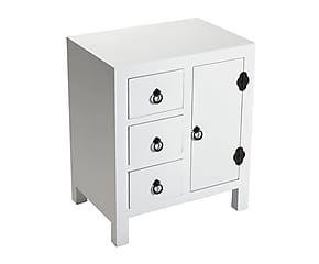 Cómoda con 3 cajones y 1 puerta en madera DM – blanco