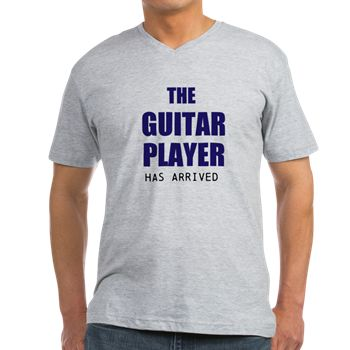 THE GUITAR PLAYER HAS ARRIVED - navy, gray fonts M
