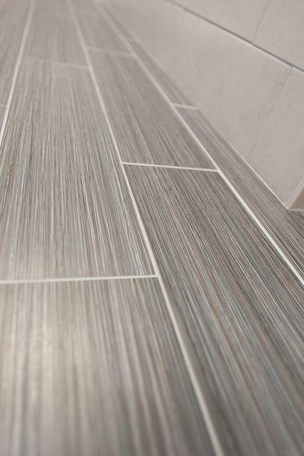 Upstairs Bathroom Floor Tile by Katie & Ian, via Flickr