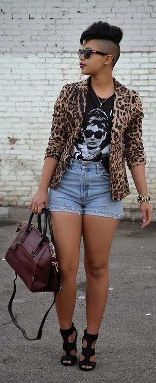 nice Leopard Blazer + Snakeskin Burgundy bag / Recycling Fashion... by http://www.globalfashionista.us/curvy-fashion/leopard-blazer-snakeskin-burgundy-bag-recycling-fashion/