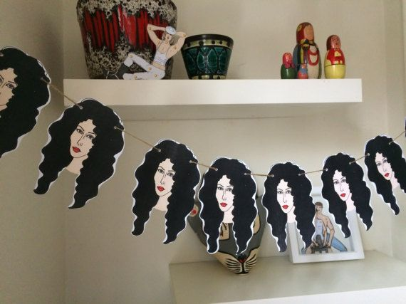 Do you wish you could turn back time? Go back to 1989 with this beautiful Cher bunting. Perfect for any party and great gift for Cher fans