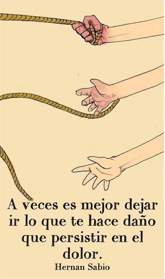 A veces es mejor dejar ir lo que te hace daño que persistir en el dolor. #frases http://www.gorditosenlucha.com/