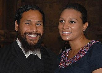 Troy Polamalu's wife Theodora Polamalu