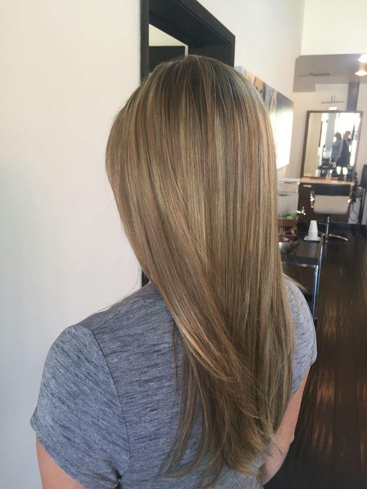 Sandy blonde, dark blonde, highlights, lowlights, bronde