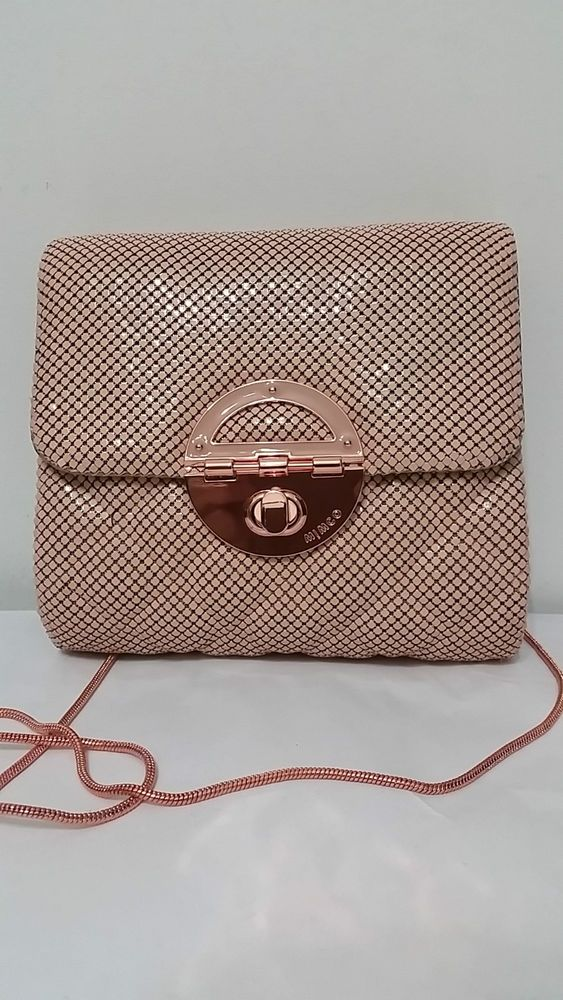Mimco PETITE TUX CLUTCH MESH ROSE GOLD CLUTCH BNWT RRP $249 in Clothing, Shoes, Accessories, Women's Bags | eBay