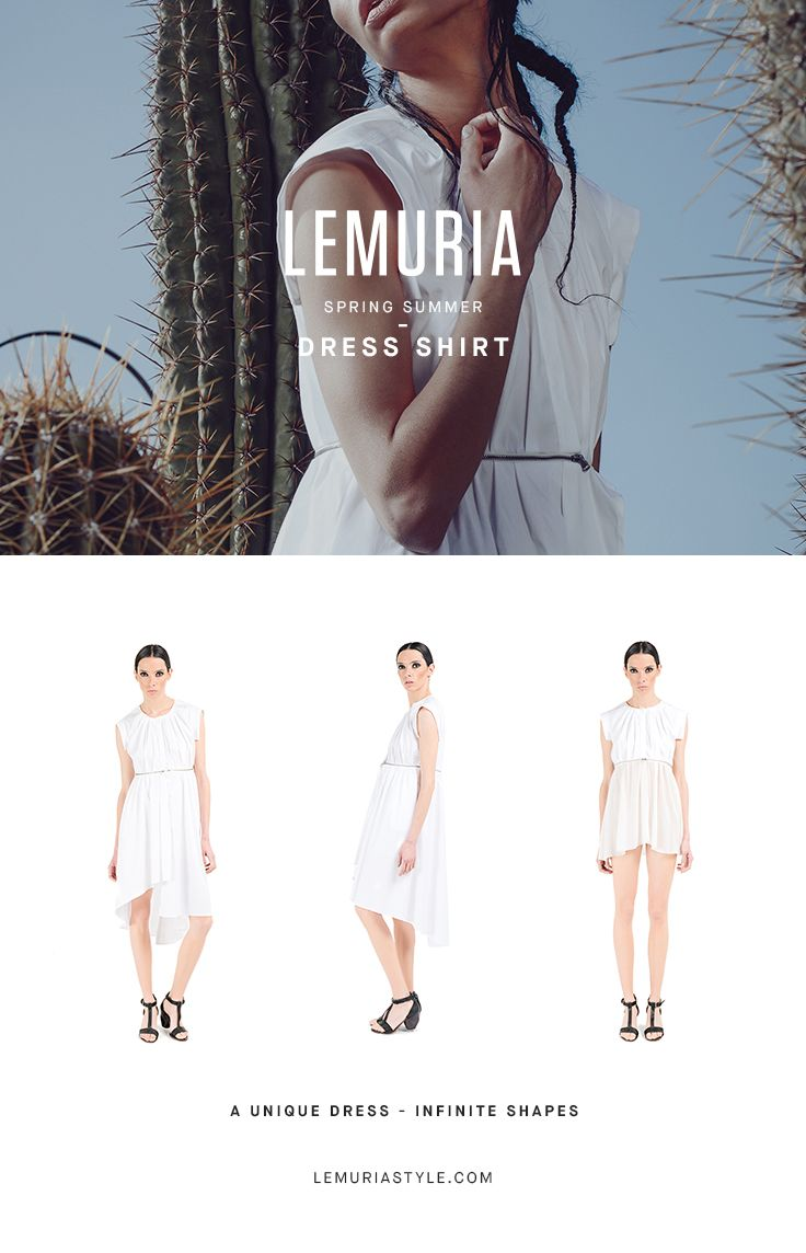 Dress divided by a hinge that becomes a shirt. #woman #clothing #multifunctional #dress #italy #brand #designclothing #design #italianbrand #boutique #cotton #jersey #lemuria #ss16 #collection #dress #overall #convertible #convertibledress #lemuria #lemuriaclothing #lemuriastyle