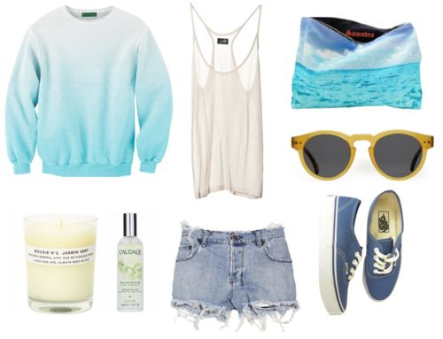 great casual summer! :)  Love the colors!
