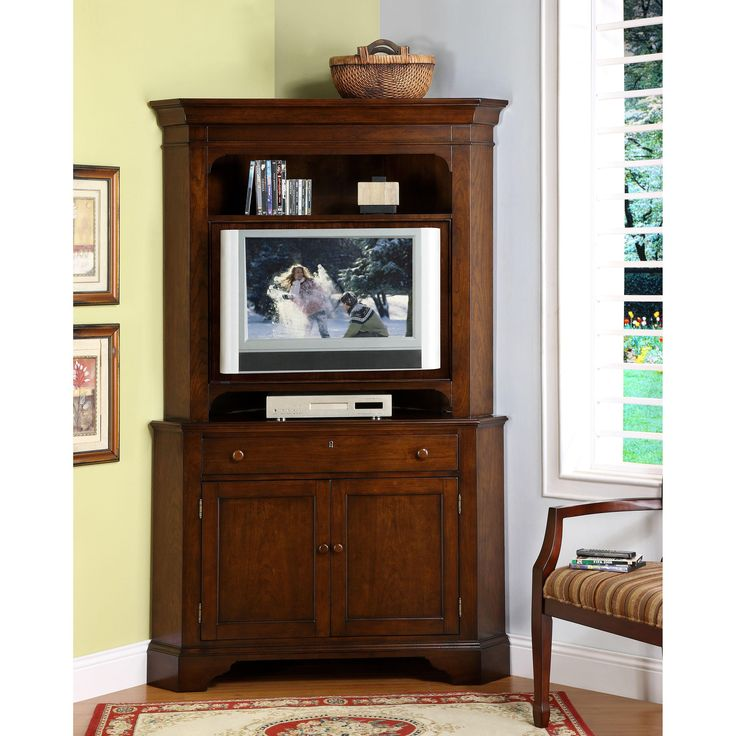 Fresh Distressed Corner Tv Cabinet