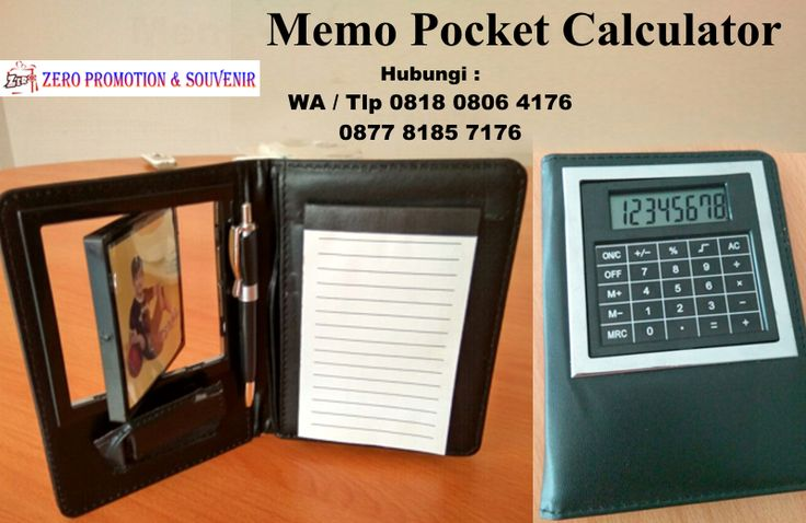 Souvenir Promosi Memo Pocket Calculator