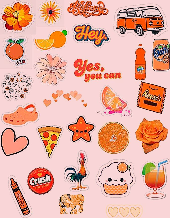 Orange Aesthetic In 2020 With Images Tumblr Stickers Iphone