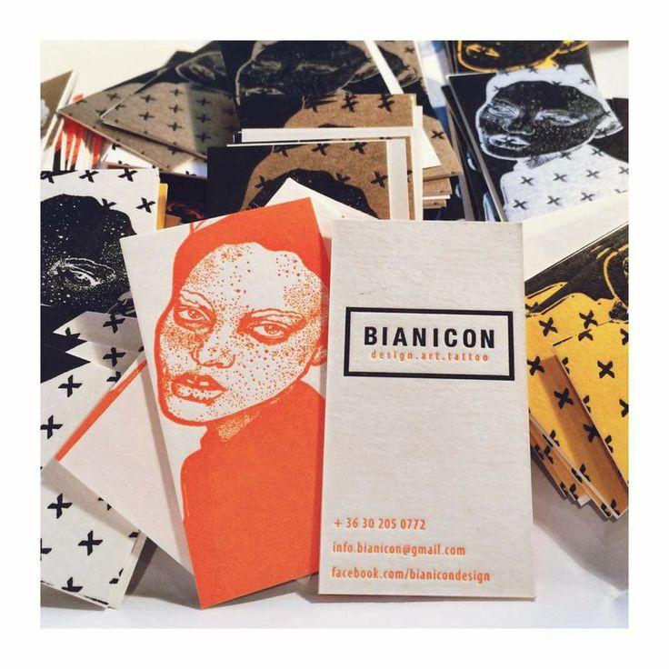 Bianicon letterpress business card #letterpress #szililetterpress #businesscard #orange