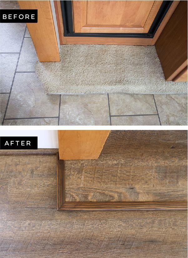 Tips To Replace The Flooring Inside An Rv Slide Out Diy Camper Remodel Camper Flooring Camper Trailer Remodel