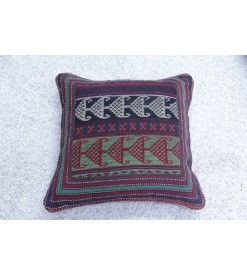 HAND KNOTTED PERSIAN CUSHION 45 X 45 CM