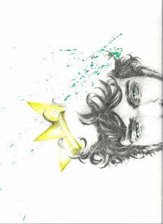 rock'n'roll king illustration- pencil, watercolors