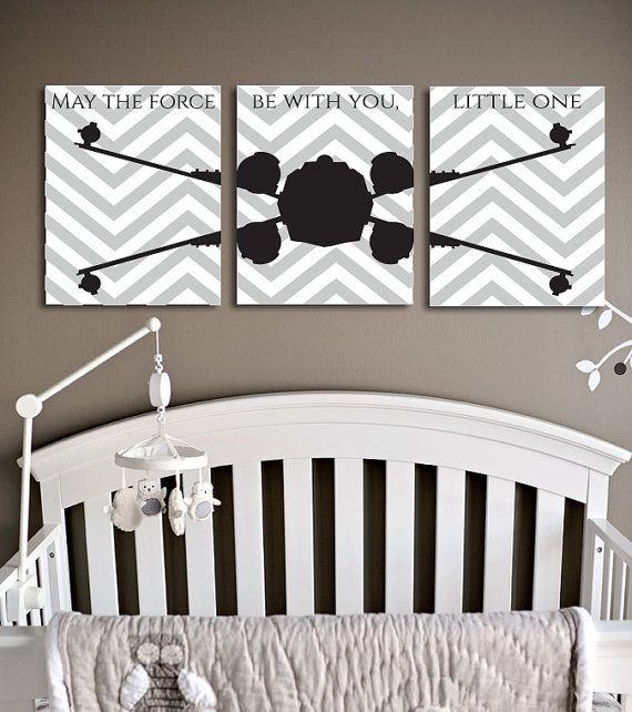 Star Wars X Fighter Empire Jedi Space Craft, Toddler Nursery, Teen Wall Art, Chevron Decor, Birthday or Baby Shower Gift Ideas 11X14