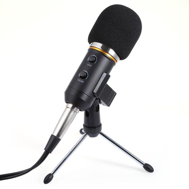 Hot sale MK-F200FL Audio Sound Recording Condenser Microphone with Shock Mount Holder Clip with locking knob 3.5mm aux jack