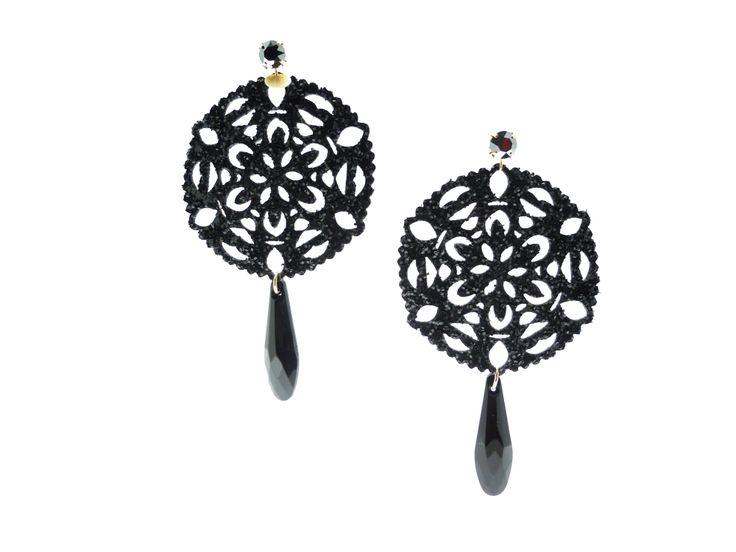 #black #earrings#glitter #golook #like #fashion
