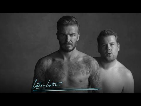 In a skit, The Late Late Show's presenter stripped down to his underwear for a manly, body-focused love-in with David Beckham. And James Corden has a glorious stripping past…