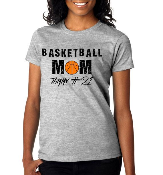 Basketball Mom Womens T Shirt by misskaystitches on Etsy