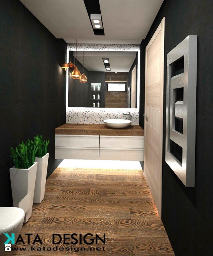Dom Tychy - Mała łazienka w bloku bez okna, styl nowoczesny - zdjęcie od katadesign