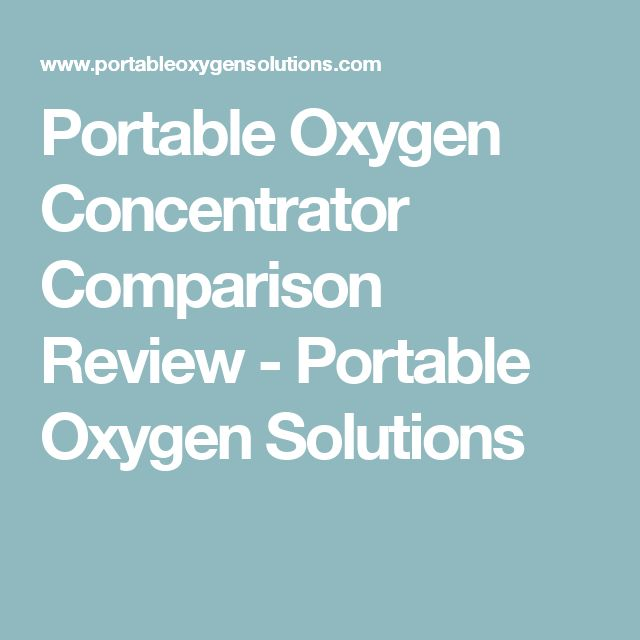 Portable Oxygen Concentrator Comparison Review - Portable Oxygen Solutions