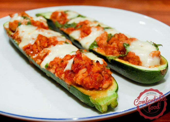 Stuffed Zucchini With Ham And Mushrooms Recipe — Dishmaps