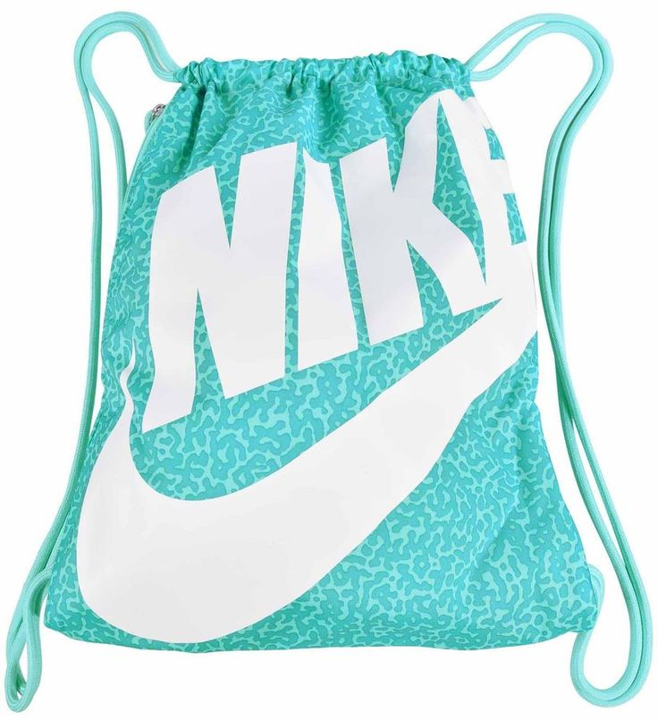 Nike Heritage Drawstring Gym Nap Sack Bag-Teal/White #Nike #Backpack