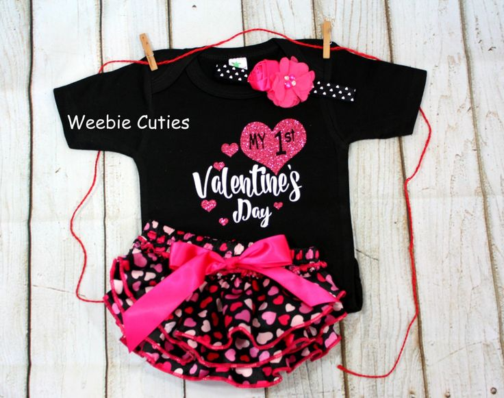 Baby Girl Clothes, Baby Girl Valentines Outfit, 1st Valentines Day Outfit,  Babyu0027s First