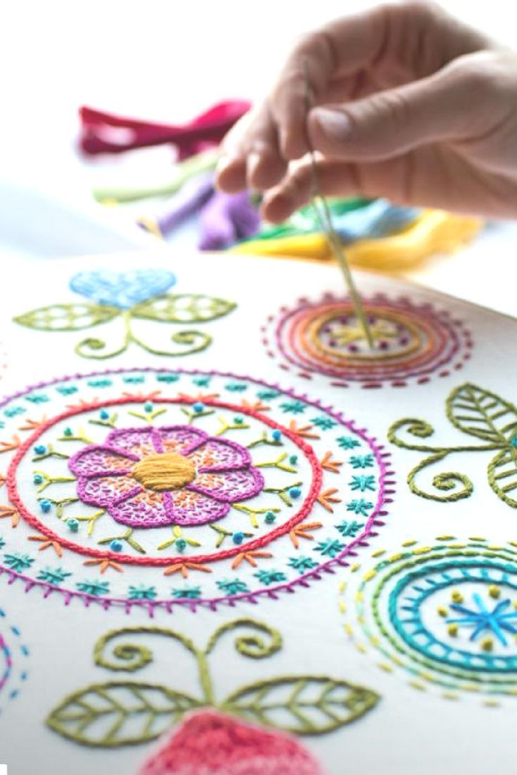 how to start hand embroidery