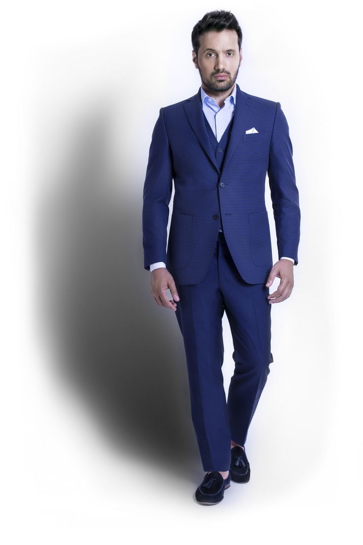 """Blue is the new Black when it comes to elegant ceremony outfits. When we take the plain blue fabrics and we twist it with polka dots in Electric Blue shades then we are in for some """"Electric Evening""""  fun and party."""