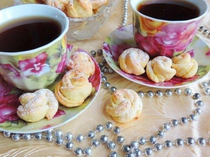 Творожное печенье «Чайная роза». | Colors.life