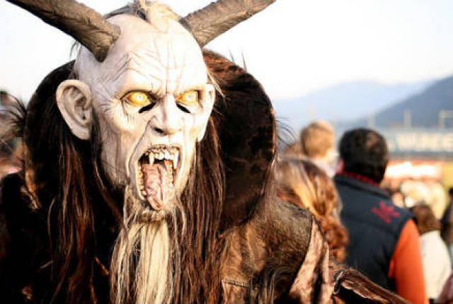 Be good or Krampus will get you!  8 Truly Strange Christmas Customs | Mental Floss