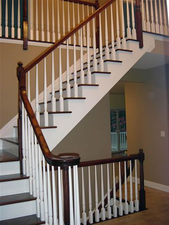 Love this staircase open to the basement