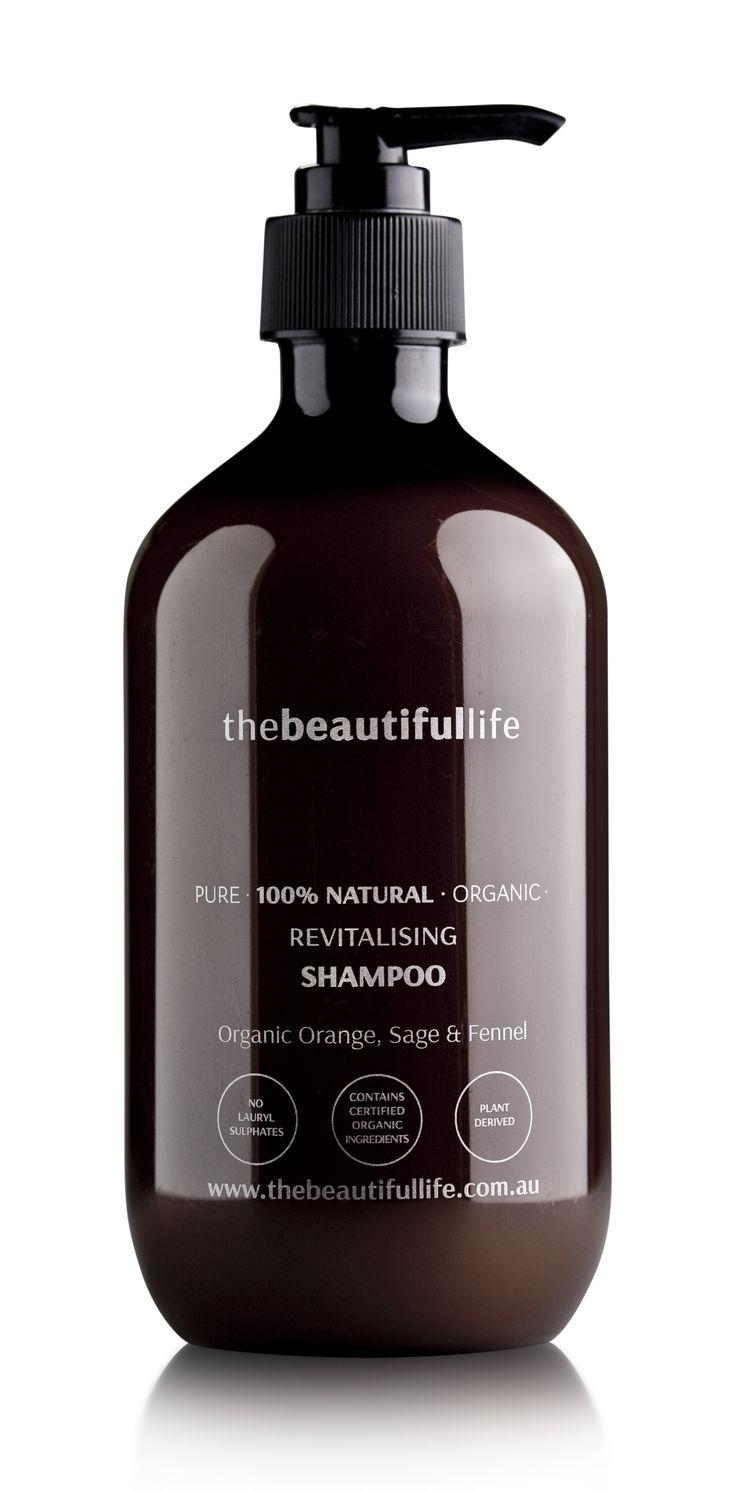 thebeautifullife - Revitalising Shampoo with Organic Orange, Sage & Fennel