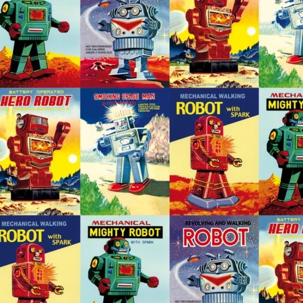 Papier cadeau - Robots vintage