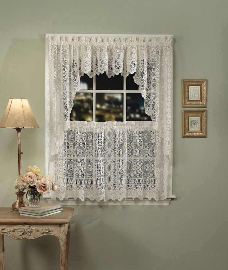 Rosemary Linen Kitchen Curtain Swag: 1000+ Images About Sheer Kitchen Curtains On Pinterest