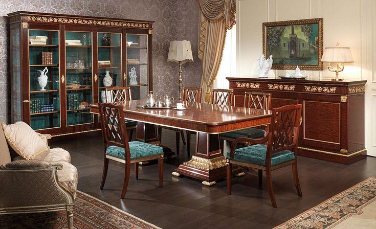 salle à manger Ermitage dans le style Impero | Vimercati Classic Furniture