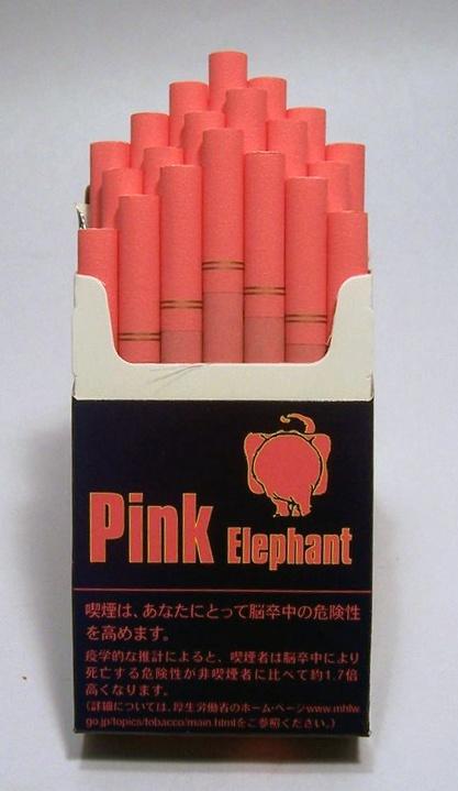 """Pink Elephant"" Vanilla-Flavored Cigarettes"