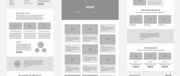 After Sketching On Paper Working In Gray Scale Makes Sure You Have All Of The Important Elements With Out Adding C Web Design Wireframe Web Design Inspiration