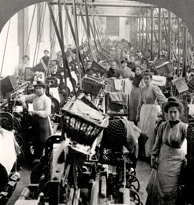 What role did the women play in the Industrial Revolution?