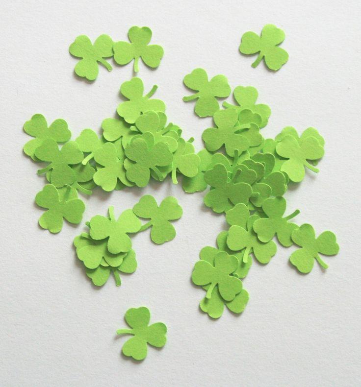 Découpes / Confettis Trèfle vert pour décoration de table ou scrapbooking : Décoration d'intérieur par boutique-creative-by-c-dona