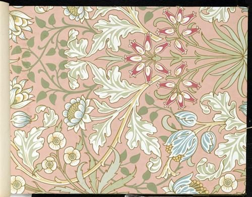Wallpaper+-+Hyacinth,+pattern+#480+-+William+Morris