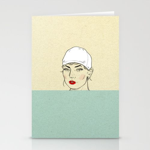 Swimmer Stationery Card