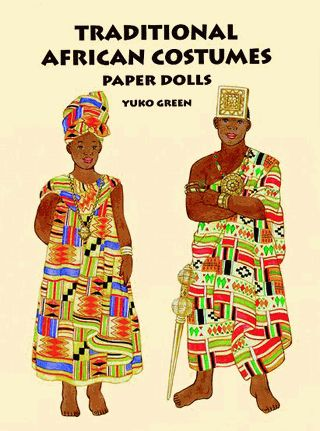 29 authentic costumes and accessories for 2 dolls reflect rich cultural diversity of African tribes. Costumes from Kenya, Ghana, Nigeria, South Africa, Zimbabwe, Botswana, Niger, Namibia, Tanzania, and Swaziland.