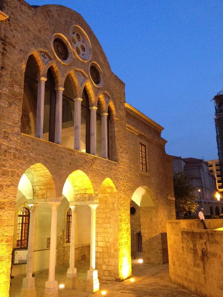 Christian church in downtown Beirut, Lebanon