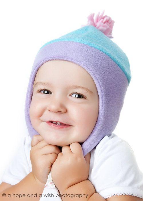 Childrens Fleece Hat Pattern  Chin Strap Hat Sewing by tiedyediva (Craft Supplies & Tools, Patterns & Tutorials, Sewing & Needlecraft, Sewing, sewing, chin strap, pdf pattern, earflap hat, bomber pilot hat, kids hat pattern, fleece hat tutorial, pattern, DIY, tutorial, hat sewing pattern, warm baby hat, fleece hat pattern)