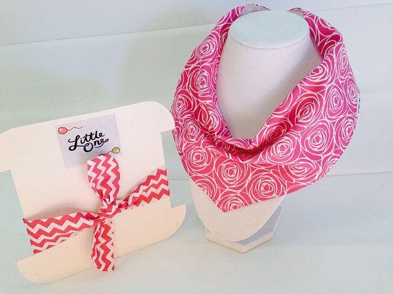 Bandana bib set-Rose  bib gift set-Rose clothing-Floral