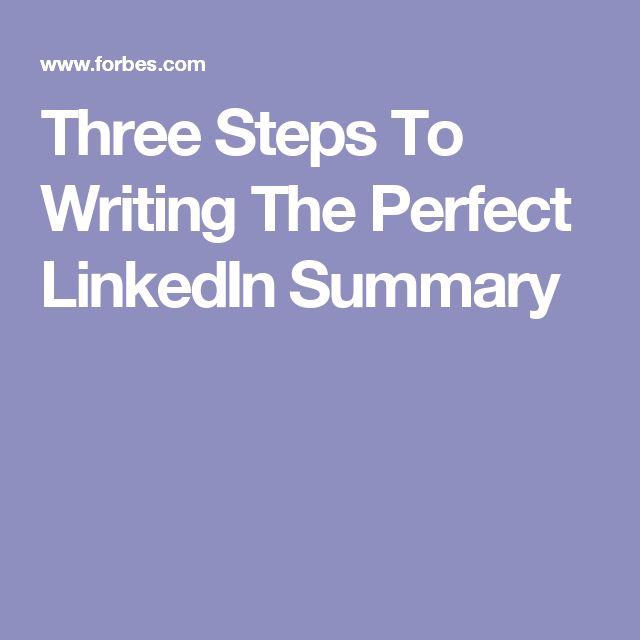 25 Unique Linkedin Summary Ideas On Pinterest Just